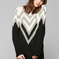 Sparkle & Fade Chevron Shine Tunic Sweater - Urban Outfitters