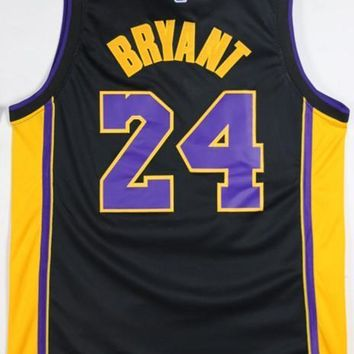 NBA Basketball Jerseys Black Purple Gold #24 Kobe Bryant