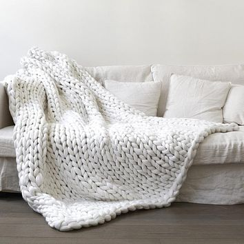 Cozy Chunky Knit Blanket