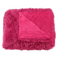Casual Living Super Plush Shaggy Oversized Throw, 60 by 70-Inch, Hot Pink
