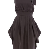 Grey bow shoulder dress - Party Dresses  - Dresses  - Dorothy Perkins