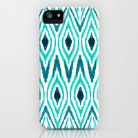 Ikat Jade iPhone & iPod Case by Amy Sia
