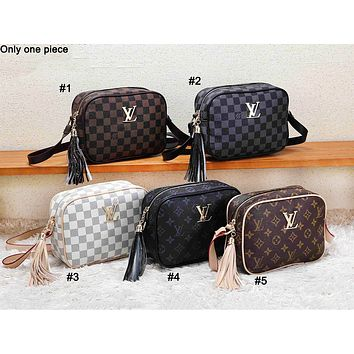 Louis vuitton casual lady print matching color single shoulder shopping bag