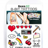 8 BIT TEMPORARY TATTOOS