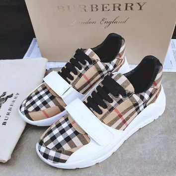 Burberry 2018 autumn and winter new trend thick-soled casual shoes