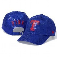 Texas Rangers Bling Baseball Hat - PINK - Victoria's Secret