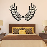 "Angel Wings Vinyl Wall Decal Graphic 48""x32"" Home Decor - 246"