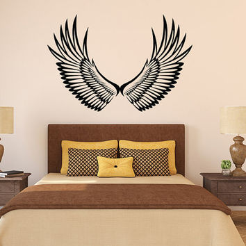 """Angel Wings Vinyl Wall Decal Graphic 48""""x32"""" Home Decor - 246"""