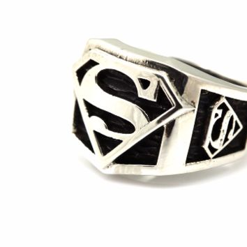 Super Hero Inspired Solid Silver Ring for Men  Big Sizes as well