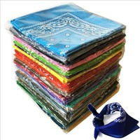 100% Cotton Hip Hop Paisley Bandanas Unisex Double Sided Print Head Wraps Multi Head Scarf Kerchief, 96PCS