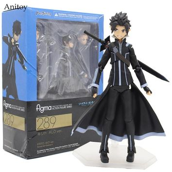 Anime Figma 289 Sword Art Online II KIRITO ALO ver. ALOver Kirigaya Kazuto PVC Action Figure Collectible Model Toy 14cm KT2969