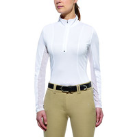 Ariat Women's Sunstopper Quarter Zip Top, White - 10010509