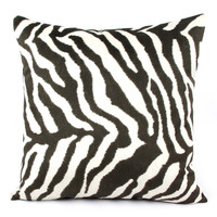 Walk on the Wild Side Zebra Throw Pillow
