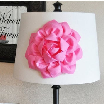 MOTHERS DAY SALE Pink Dahlia Flower Lamp Shade Applique -Lamp Shade Magnetic Flower Embellishment- New Bedbuggs Collection