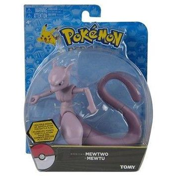 "Tomy Pokemon Mewtwo 6"" Hero Articulated Action Figure US Seller USA Authentic"