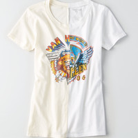 AEO Van Halen Band T-Shirt, Toasted Coconut