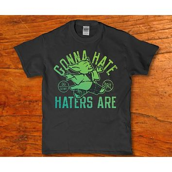 Haters are gonna hate funny yoda t-shirt for Men