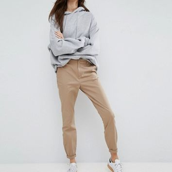 ASOS Skinny Chino Trousers with Roll Up at asos.com