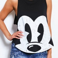 LARGE PRINT MICKEY MOUSE TANK