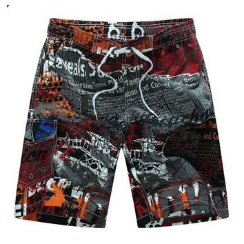 Men's Graphic Printed Knee-length Shorts