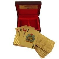 Playing Cards Deck in 999.9 Gold Plating Father's Day Gift from India