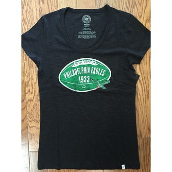 Womens NFL Philadelphia Eagles Scrum Scoop T-Shirt