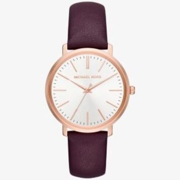 Jaryn Rose Gold-Tone and Leather Watch | Michael Kors