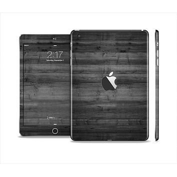 The Dark Black WoodGrain Skin Set for the Apple iPad Mini 4