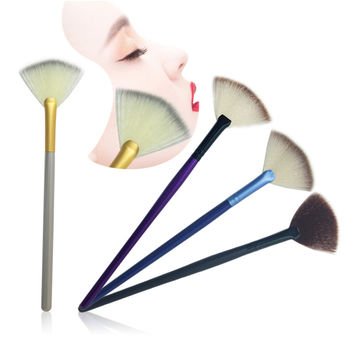 Slim Fan Shape Powder Makeup Brushes Concealer Finishing Highlighter Highlighting Makeup Brush Nail Art Brush forMakeup