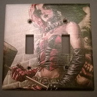 Comic Book Harley Quinn light switch cover