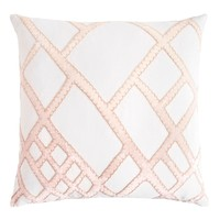 Blossom Net Velvet Appliqué Pillow by Kevin O'Brien Studio