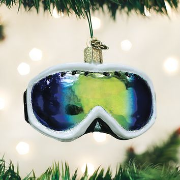 Old World Christmas Handcrafted Blown Glass Ornament -- Ski Goggles