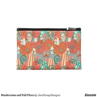 Mushrooms and Fall Flora Travel Accessories Bags