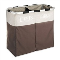 Dual Hamper - Whites & Darks Doing Laundry In College Wash Bags Supplies Essentials Clean Clothes