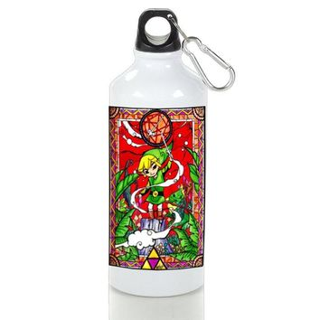 Gift Sport Bottles | Legend Of Zelda Stained Glass Aluminum Sport Bottles