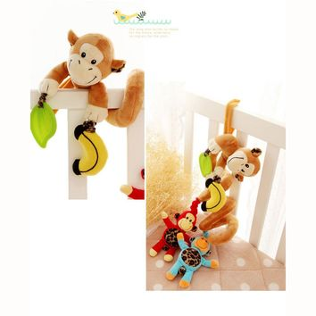 Cute!! Musical Crib Hanging Monkey Rattle!!