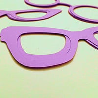 Paper Glasses Photo Prop Die Cuts, Customize your Size, Color and Type, Scrapbooking, Journals, Paper Projects