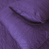 cotton bedspread purple pebbles King quilted bedspread ,bedding coverlet embroidery pattern contemporary quilt modern bedspread