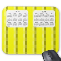 Yellow Pinstripe 2015-2016 Calendar by Janz