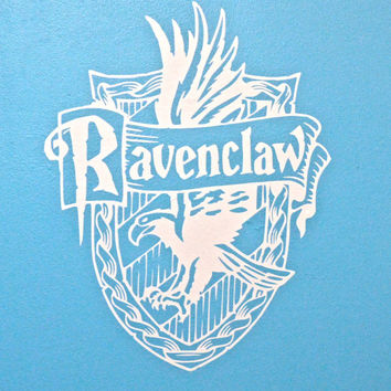 Hogwarts House Wall Decals, Large Harry Potter Inspired decal, Ravenclaw Hufflepuff Slytherin Gryffindor large wall decal