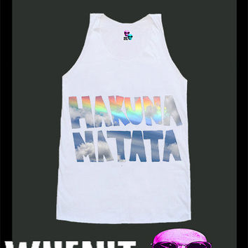 worldwide shipping just 7 days HAKUNA MATATA shirt singlet tank top 10376