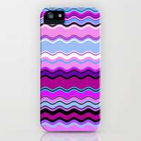 Color Waves  in Grape iPhone & iPod Case by Lisa Argyropoulos