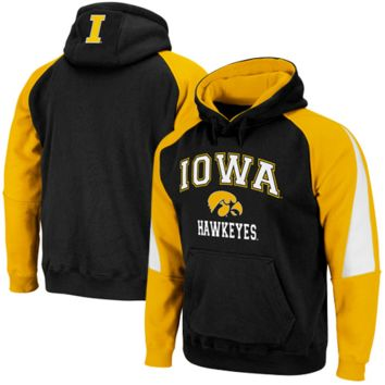 Iowa Hawkeyes Black-Gold Playmaker Pullover Hoodie Sweatshirt