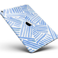 """The Random Blue Watercolor Strokes Full Body Skin for the iPad Pro (12.9"""" or 9.7"""" available)"""