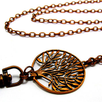 ID Badge Lanyard with Beautiful Tree of Life