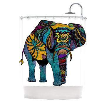 "Pom Graphic Design ""Elephant of Namibia"" Shower Curtain"