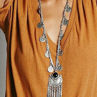 2016 Fahion Ethnic Collier Femme Bohemian Long Necklace Statement Maxi Vintage Necklace Coin Tassel Fine Jewelry