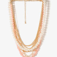 Pearlescent Multi-Strand Necklace