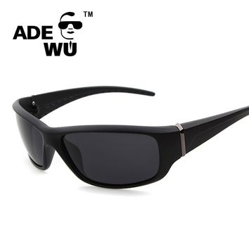ADE WU Luxury Brand Men's Sunglasses Black Frame Sunglasses Polarized For Men Driver Male Sun Glasses Sport Shades Eyeglasses