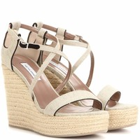 Jenny 110 canvas wedge sandals